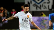 Hebei China Fortune forward Ezequiel Lavezzi