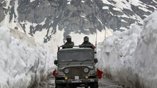 Chinese troops patrol the LAC around Ladakh.