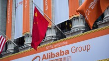 Alibaba closed at $104.64 per share on the New York Stock Exchange.